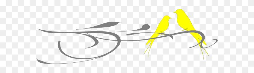 Yellow Clipart Love Bird - Love Birds Clipart