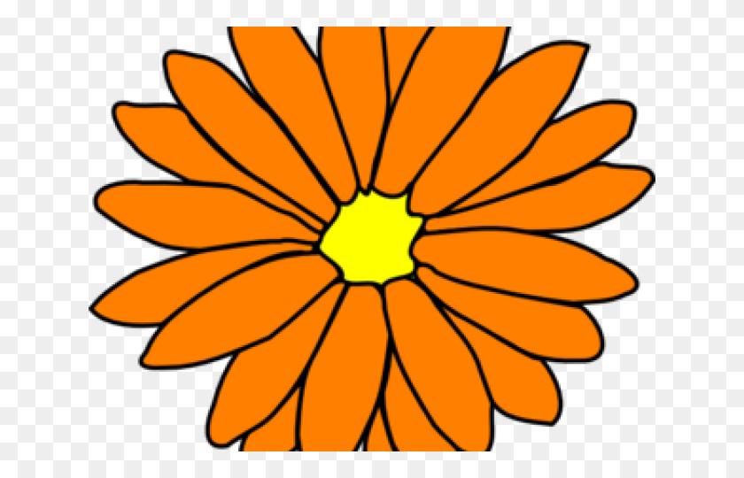 Yellow Flower Clipart Big Flower - Yellow Flower Clipart