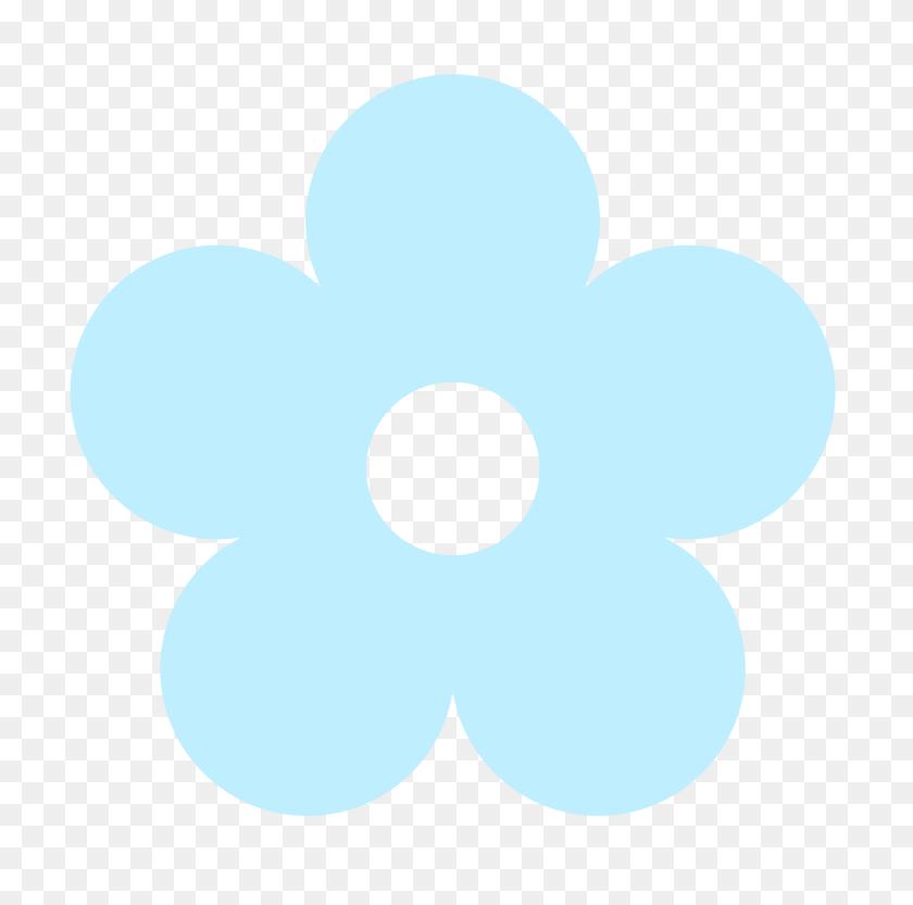 Yellow Flower Clipart Light Blue Flower - Flower Pictures Clip Art