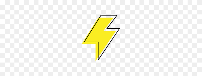 Yellow Lightning Bolt Icon - Yellow Line PNG