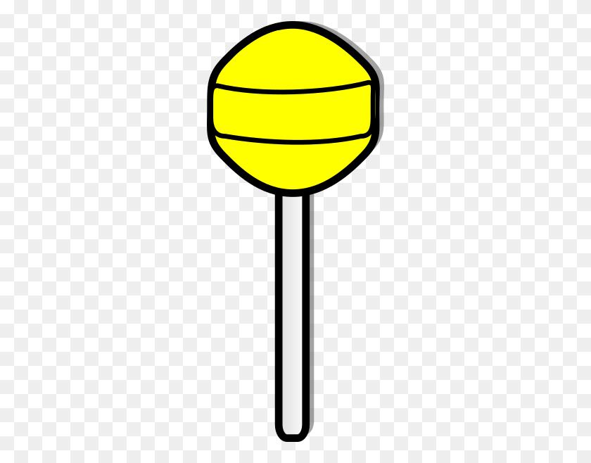 Yellow Lollipop Clip Art - Lollipop Clipart