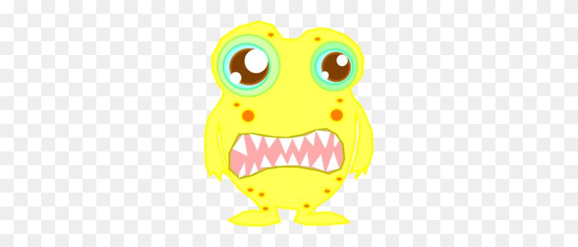 246x299 Yellow Monster Clip Art - Monster Clipart