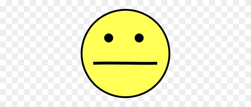 Yellow Neutral Face Clip Art - Sad Smiley Face Clip Art