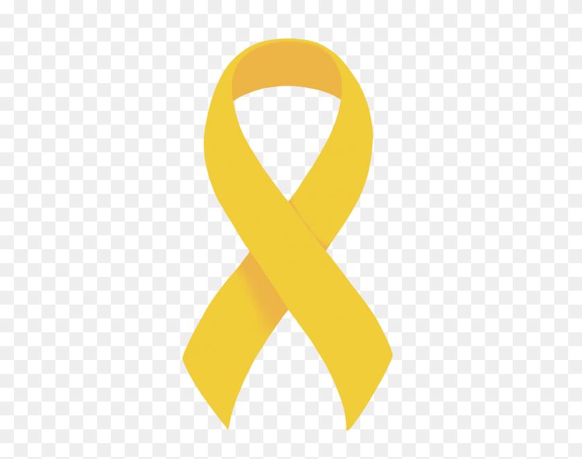 Yellow Ribbon - Yellow Background PNG