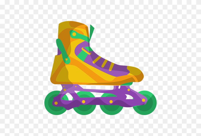 Yellow Roller Skate Shoe - Roller Skate PNG