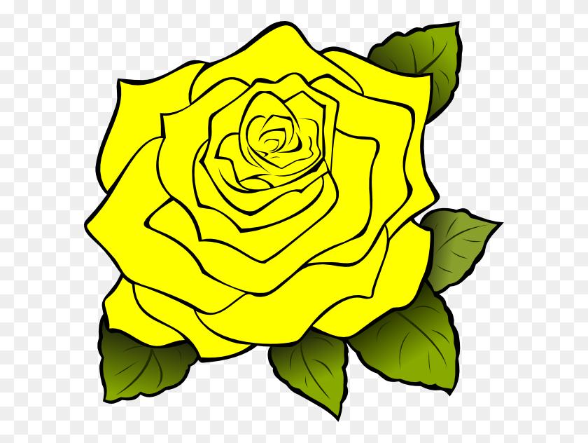 Yellow Rose Border Clip Art - Rose Border Clipart