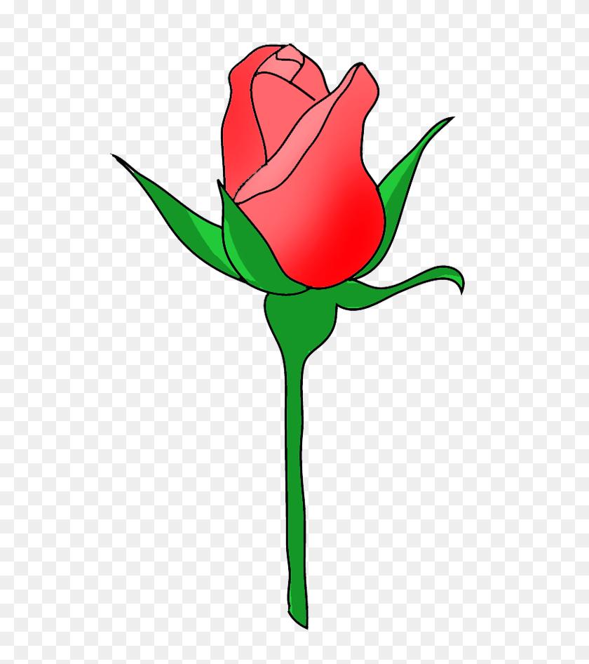 Yellow Rose Clipart Bud - Watercolor Roses PNG