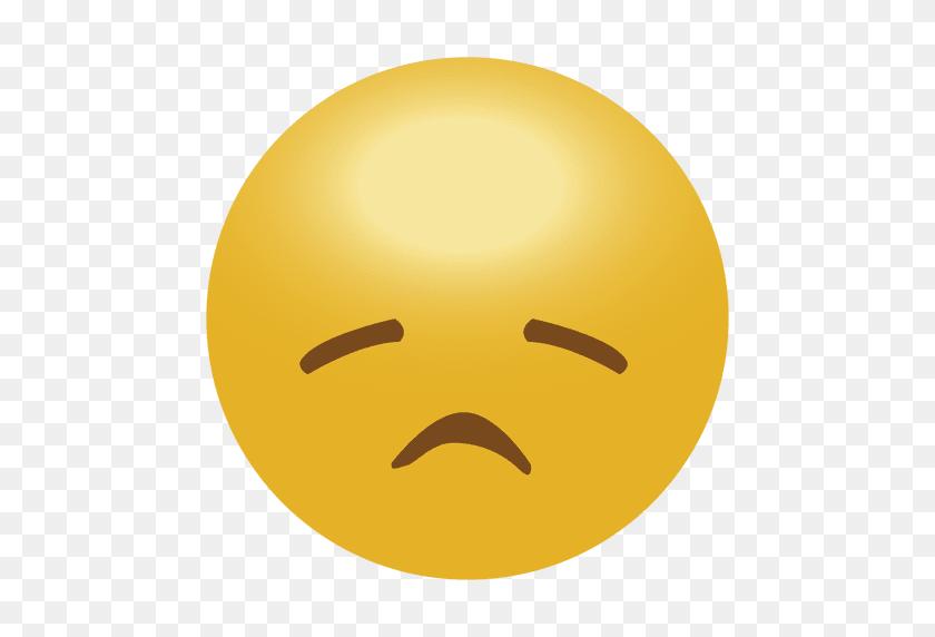 512x512 Yellow Sad Emoji Emoticon - Sad Emoji PNG