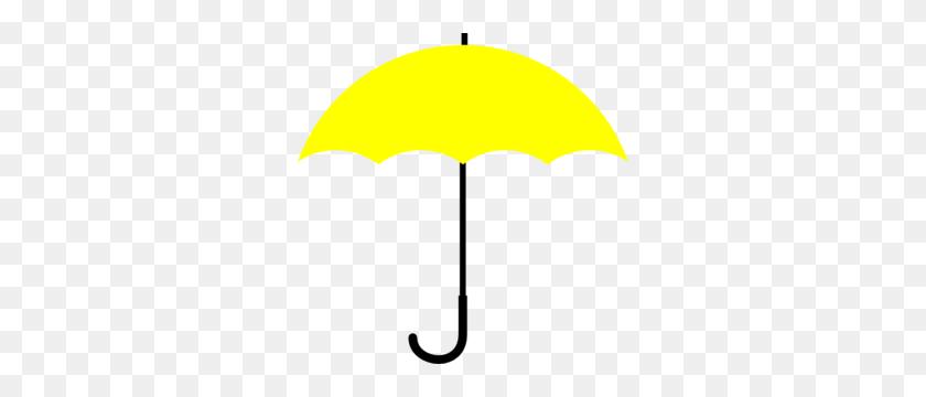 Yellow Umbrella Clip Art, Yellow Umbrella Clipart - Duck With Umbrella Clipart