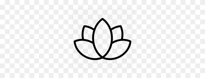 260x260 Yoga Lotus Clipart - Lotus Clipart
