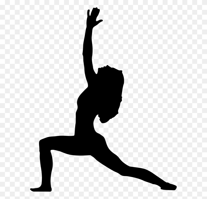 595x750 Yoga Silhouette Lotus Position Exercise - Free Exercise Clip Art
