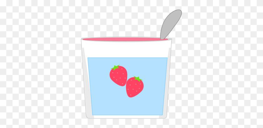 Yogurt Clipart Strawberry Yogurt - Frozen Yogurt Clipart