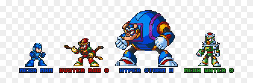 720x216 Zedicon's Sprites - Megaman Sprite PNG
